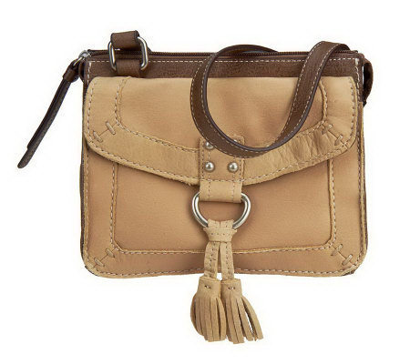 Tignanello Retro Leather Crossbody with Tassel Accent