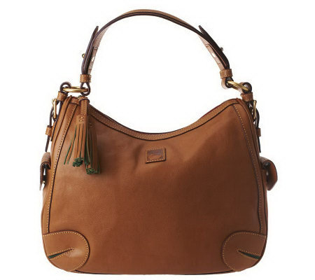 Dooney & Bourke Florentine Leather Side Pocket Hobo