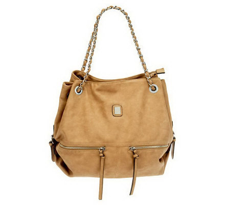 V Couture by Kooba Maddie Satchel w/ Woven Chain Shoulder Straps
