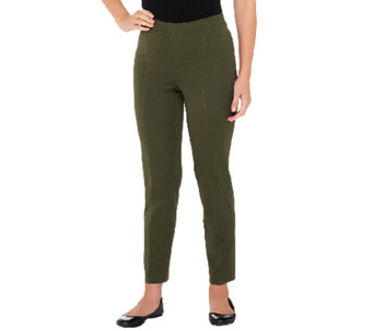 Isaac Mizrahi Live! Regular 24/7 Stretch Ankle Pants - A235335