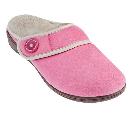 Vionic Orthotic Adj. Strap Slippers - Laura