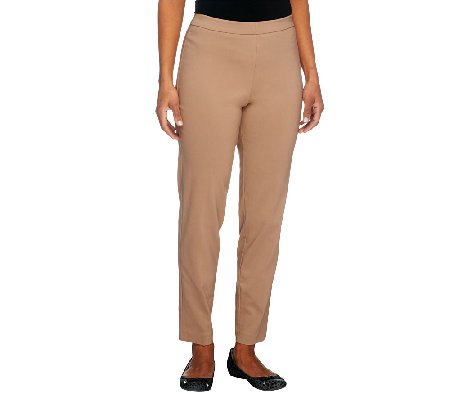 Susan Graver Ultra Stretch Pull-on Slim Leg Ankle Pants