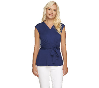Styled by Joe Zee Faux Wrap Knit Top - A254435