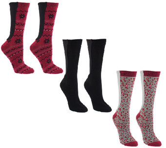 Passione Xpandasox Set of 3 Cotton Crew Socks - A259535
