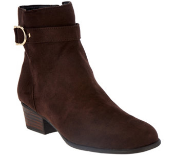 Liz Claiborne New York Ankle Boots with Horsebit Detail - A259835