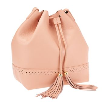 Isaac Mizrahi Live! Bridgehampton Leather Bucket Bag