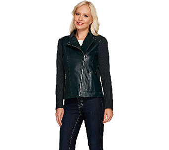 Linea by Louis Dell'Olio Leather Moto Jacket - A267935