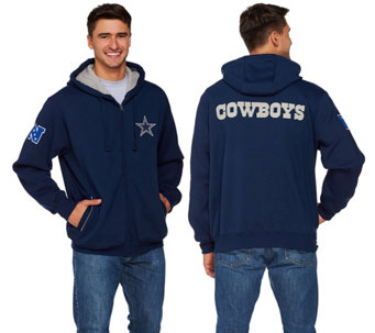 NFL Dallas Team Color Fully Lined Sherpa Hoodie - A268235