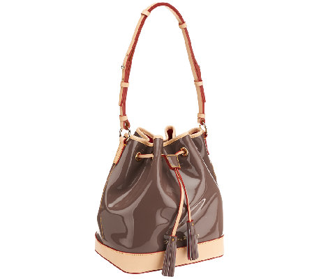 """As Is"" Dooney & Bourke Claremont Patent Handbag"