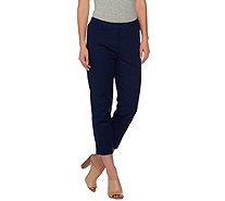 Dennis Basso Stretch Woven Crop Pants - A278235