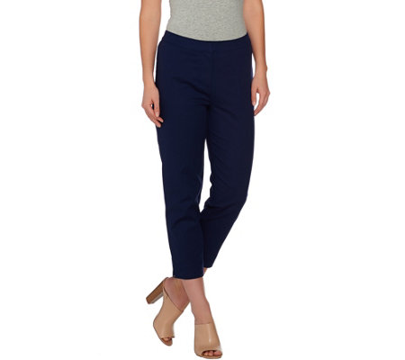 Dennis Basso Stretch Woven Crop Pants