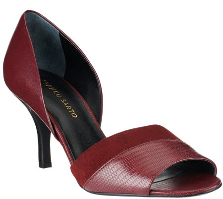 """As Is"" Franco Sarto Leather d'Orsay Peep Toe Pumps - India"