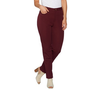 C. Wonder Stretch Twill 5-Pocket Ankle Length Pants - A279335