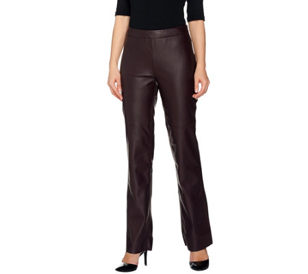 G.I.L.I. Faux Leather Regular Flared Pants