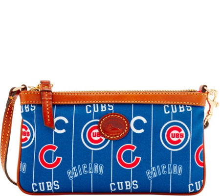 Dooney & Bourke MLB Nylon Cubs Large Slim Wristlet