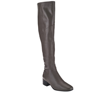 """As Is"" H by Halston Leather Over-the-Knee Boots - Karlie - A283535"