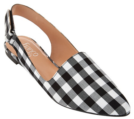 """As Is"" Franco Sarto Slingback Pointed Toe Flats - Sphinx"