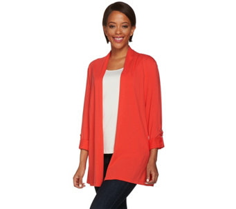 """As Is"" Susan Graver Weekend Cotton Modal 3/4 Sleeve Cardigan - A283935"