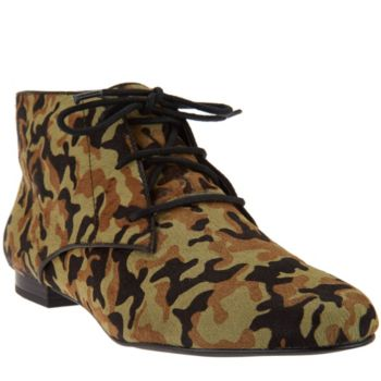 LOGO by Lori Goldstein Flat Lace-Up Ankle Boots