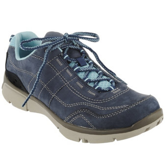 """As Is"" Clarks Outdoor Lace-up Sneakers- Luminate Path - A285935"