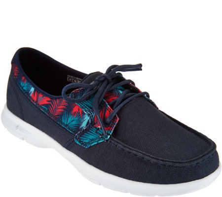 Skechers On-the-GO Printed Canvas Boat Shoes - Cabana