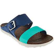 Merrell Leather Slide Sandals w/ Buckle - Around Town - A288435