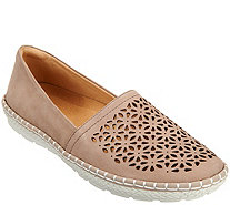 Earth Nubuck Leather Slip-on Espadrilles - Artemis - A289335