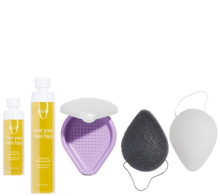Julep Cleansing Oil & Konjac Sponge Home & Away