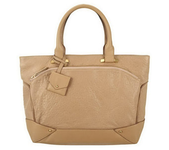 """As Is"" Allibelle Bubble Leather Plateau Tote - A293235"