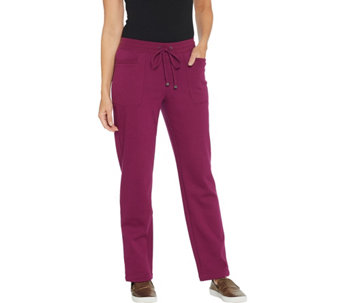 Isaac Mizrahi Live! Regular SOHO Plushed Back Straight Leg Pants - A295635