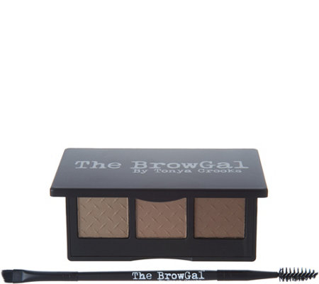 The BrowGal Convertible Brow Powder & Pomade Duo w/ Brush