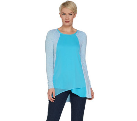 H by Halston Super Soft Knit Scoop Neck Long Sleeve Top