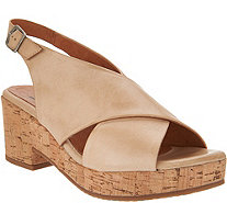 Miz Mooz Leather Wedge Sandals - Comet - A304335