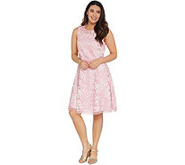 Isaac Mizrahi Live! Special Edition Printed Lace Dress - A305235