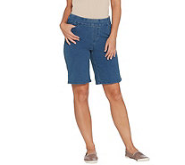 Denim & Co. Comfy Knit Smooth Waist Pull-On 5-Pocket Shorts - A307035