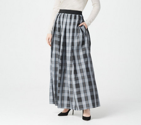 """As Is"" Joan Rivers Regular Length Holiday Plaid Maxi Skirt"