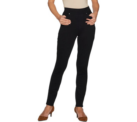 """As Is"" Martha Stewart Petite Ponte Knit Pull-On Ankle Pants"