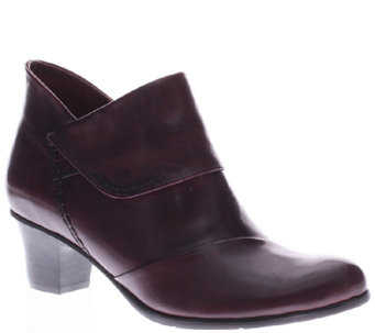 Spring Step Leather Booties - Azzuro - A334235