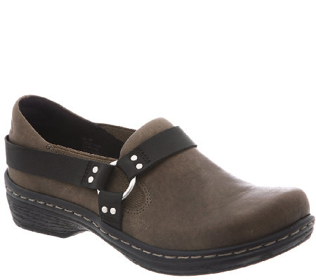 Klogs Leather Closed Back Clogs - Harley