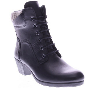 Spring Step Leather Ankle Boots - Machico - A338135