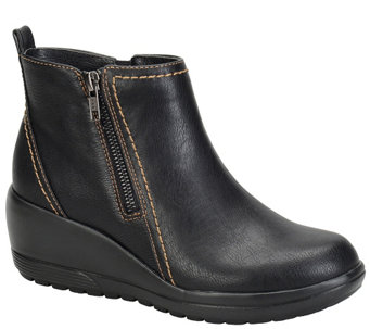 Softspots Water-Resistant Wedge Ankle Boots - Carrigan - A338435
