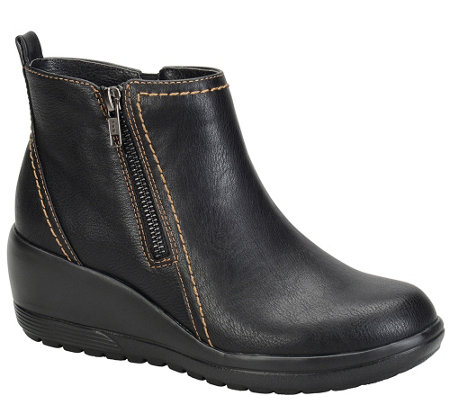 Softspots Water-Resistant Wedge Ankle Boots - Carrigan