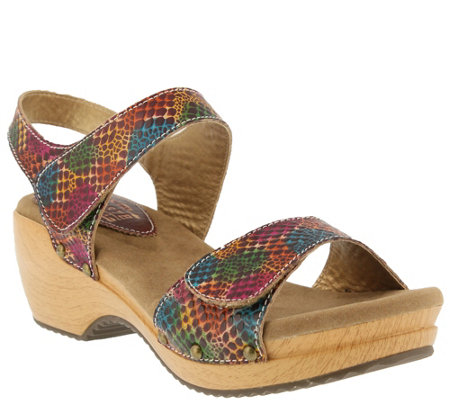 Spring Step L'Artiste Leather Sandals - Choko