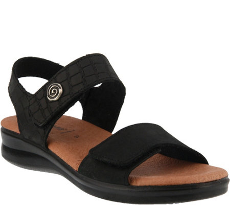 Flexus by Spring Step Nubuck Leather Sandals -Komarra