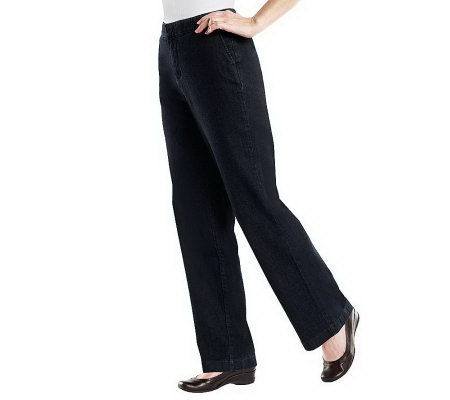 "Denim & Co. ""How Fitting!"" Tummy Slimming Trouser Jeans"