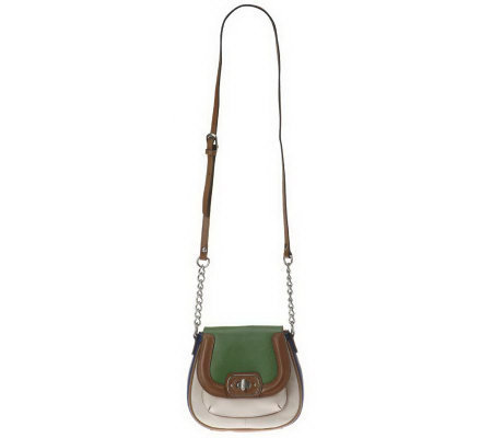 Etienne Aigner Valenica Color-Block Mini Flap Crossbody