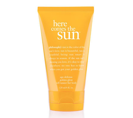 philosophy here comes the sun self-tanner for body, 4 oz