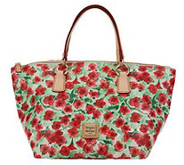 Dooney & Bourke Floral Print Coated Canvas Tulip Tote - A232936