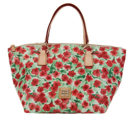 Dooney & Bourke Floral Print Coated Canvas Tulip Tote
