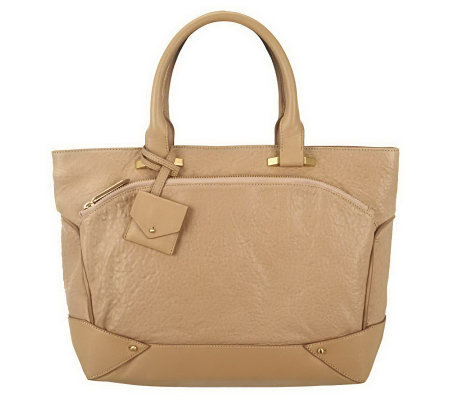 Allibelle Bubble Leather Plateau Tote